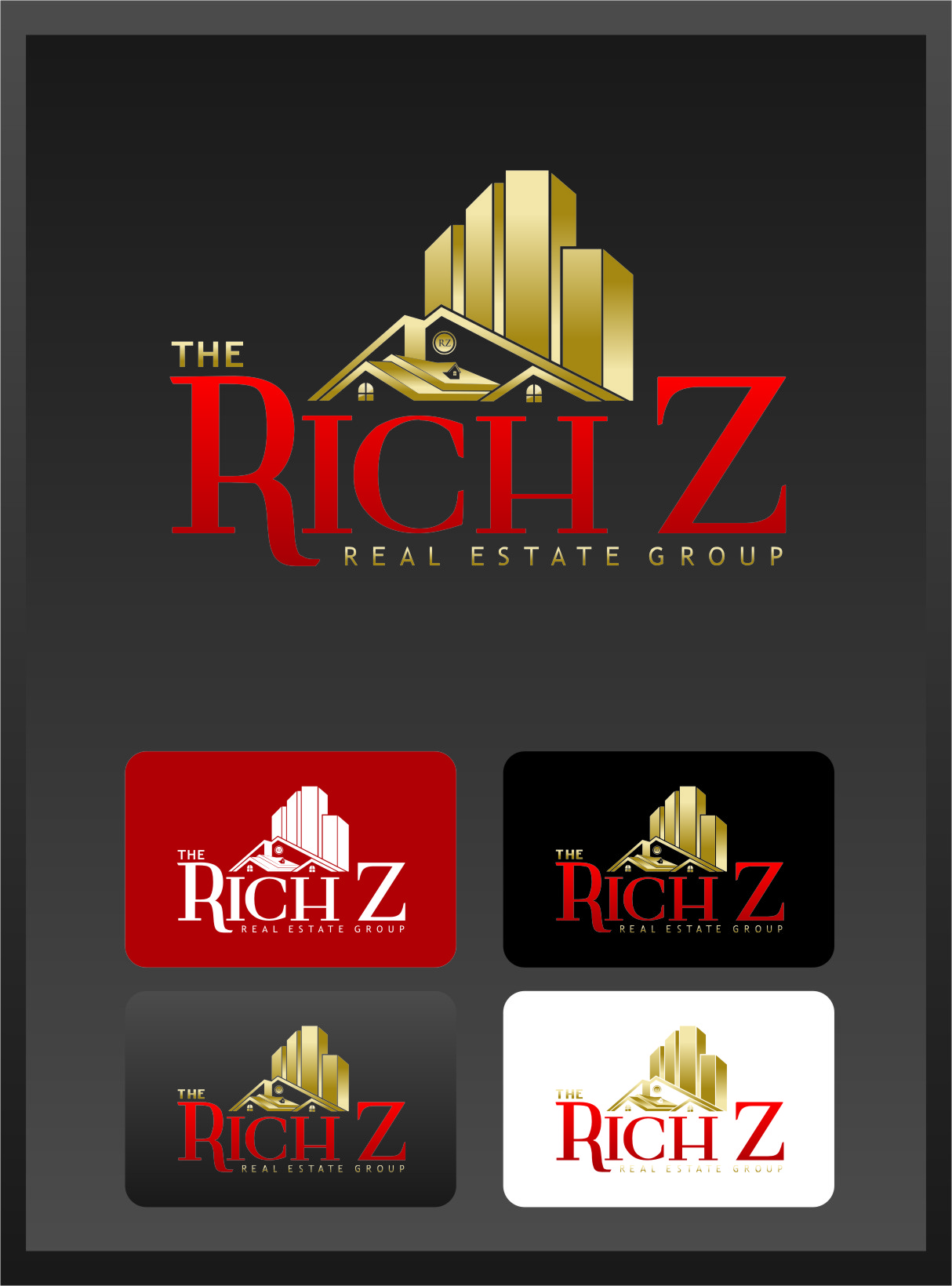 Logo Design by Ngepet_art - Entry No. 251 in the Logo Design Contest The Rich Z. Real Estate Group Logo Design.