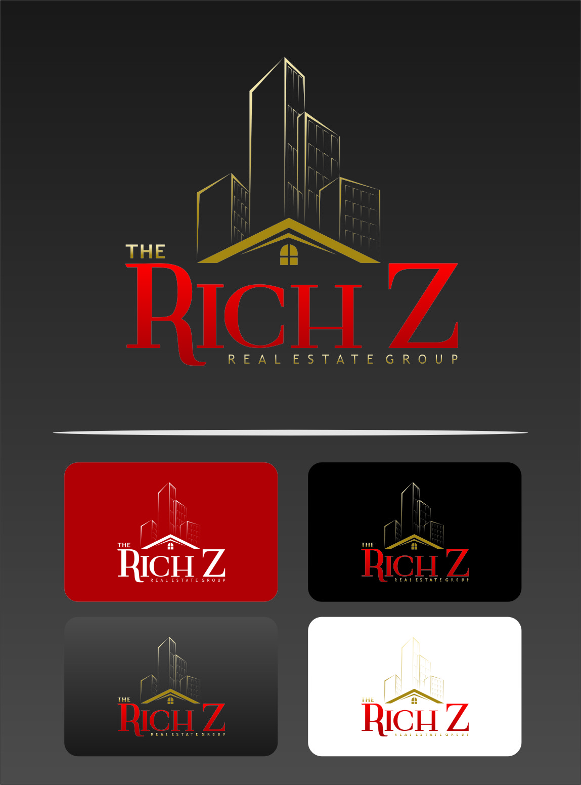 Logo Design by Ngepet_art - Entry No. 252 in the Logo Design Contest The Rich Z. Real Estate Group Logo Design.