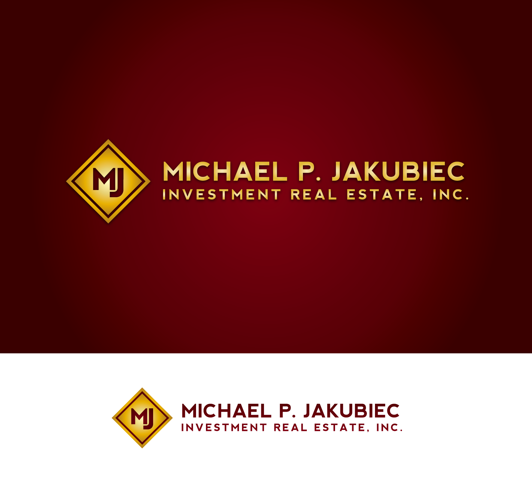 Logo Design by luna - Entry No. 28 in the Logo Design Contest New Logo Design for Michael P. Jakubiec Investment Real Estate, Inc..