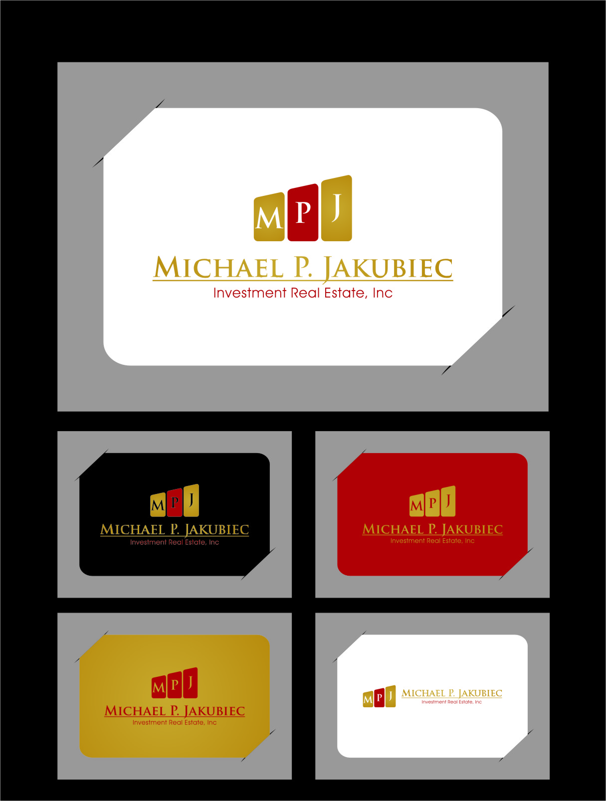 Logo Design by RasYa Muhammad Athaya - Entry No. 29 in the Logo Design Contest New Logo Design for Michael P. Jakubiec Investment Real Estate, Inc..