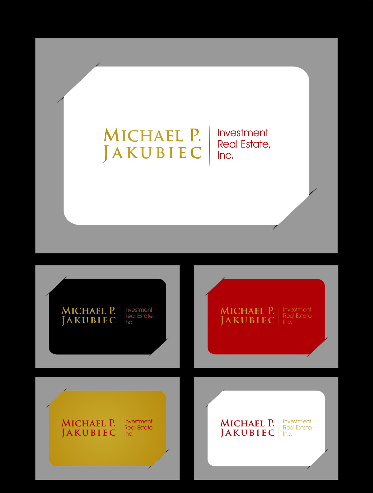 Logo Design by Ngepet_art - Entry No. 30 in the Logo Design Contest New Logo Design for Michael P. Jakubiec Investment Real Estate, Inc..