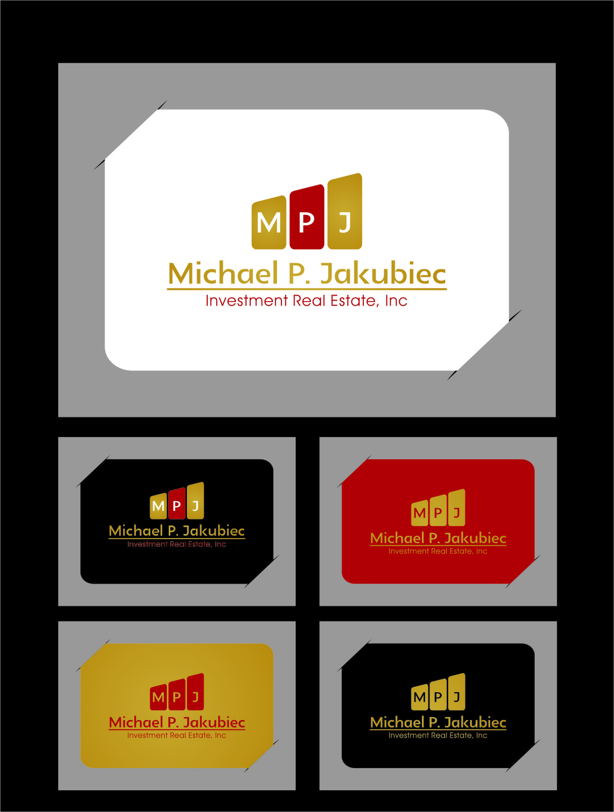 Logo Design by RasYa Muhammad Athaya - Entry No. 32 in the Logo Design Contest New Logo Design for Michael P. Jakubiec Investment Real Estate, Inc..