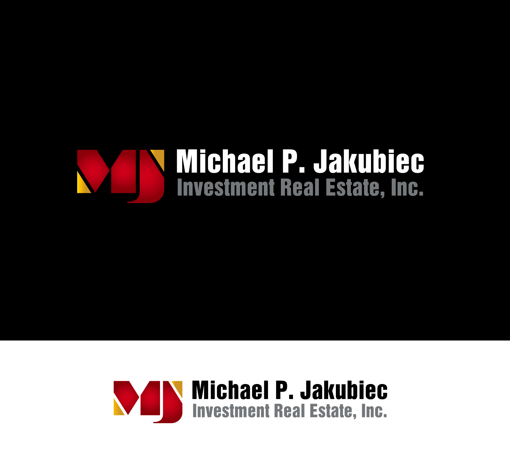 Logo Design by luna - Entry No. 34 in the Logo Design Contest New Logo Design for Michael P. Jakubiec Investment Real Estate, Inc..