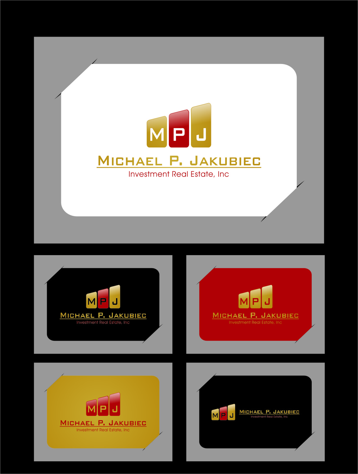 Logo Design by Ngepet_art - Entry No. 36 in the Logo Design Contest New Logo Design for Michael P. Jakubiec Investment Real Estate, Inc..