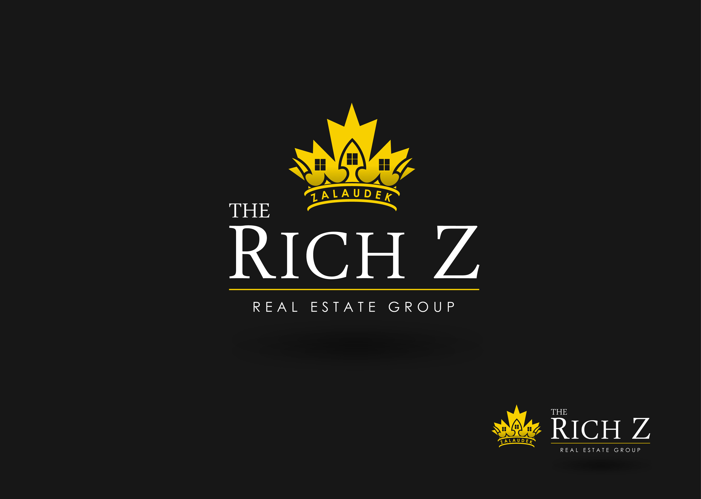 Logo Design by Mark Anthony Moreto Jordan - Entry No. 257 in the Logo Design Contest The Rich Z. Real Estate Group Logo Design.