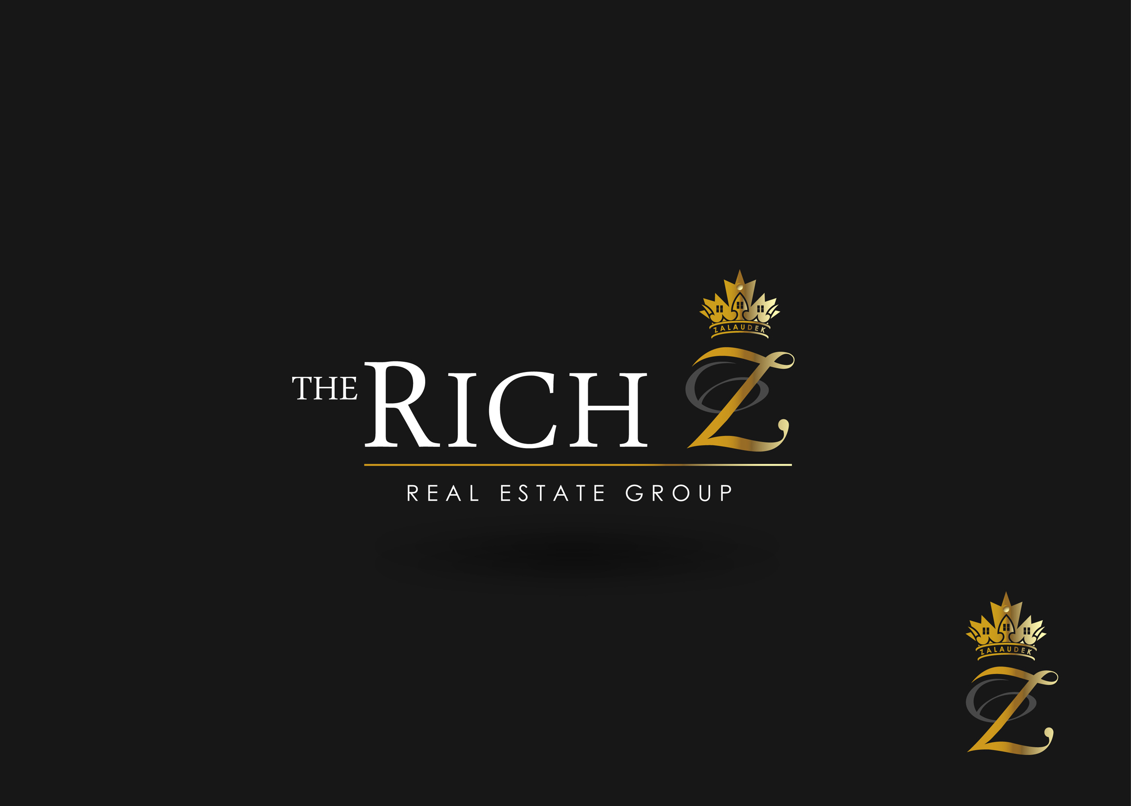 Logo Design by Mark Anthony Moreto Jordan - Entry No. 258 in the Logo Design Contest The Rich Z. Real Estate Group Logo Design.