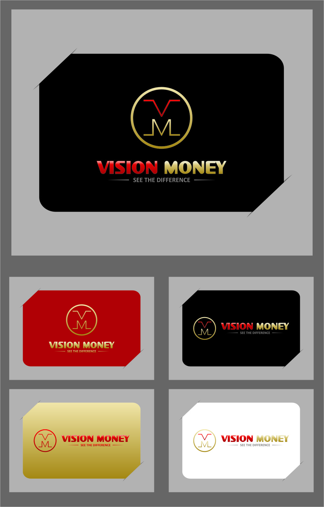 Logo Design by Ngepet_art - Entry No. 82 in the Logo Design Contest Captivating Logo Design for VISION MONEY.