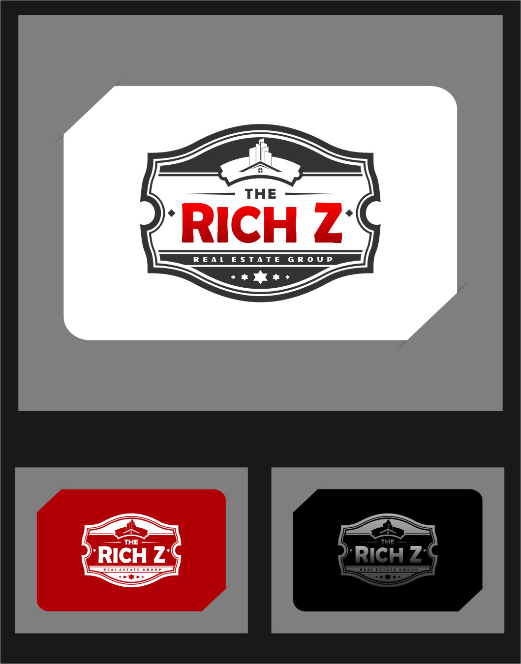 Logo Design by Ngepet_art - Entry No. 262 in the Logo Design Contest The Rich Z. Real Estate Group Logo Design.