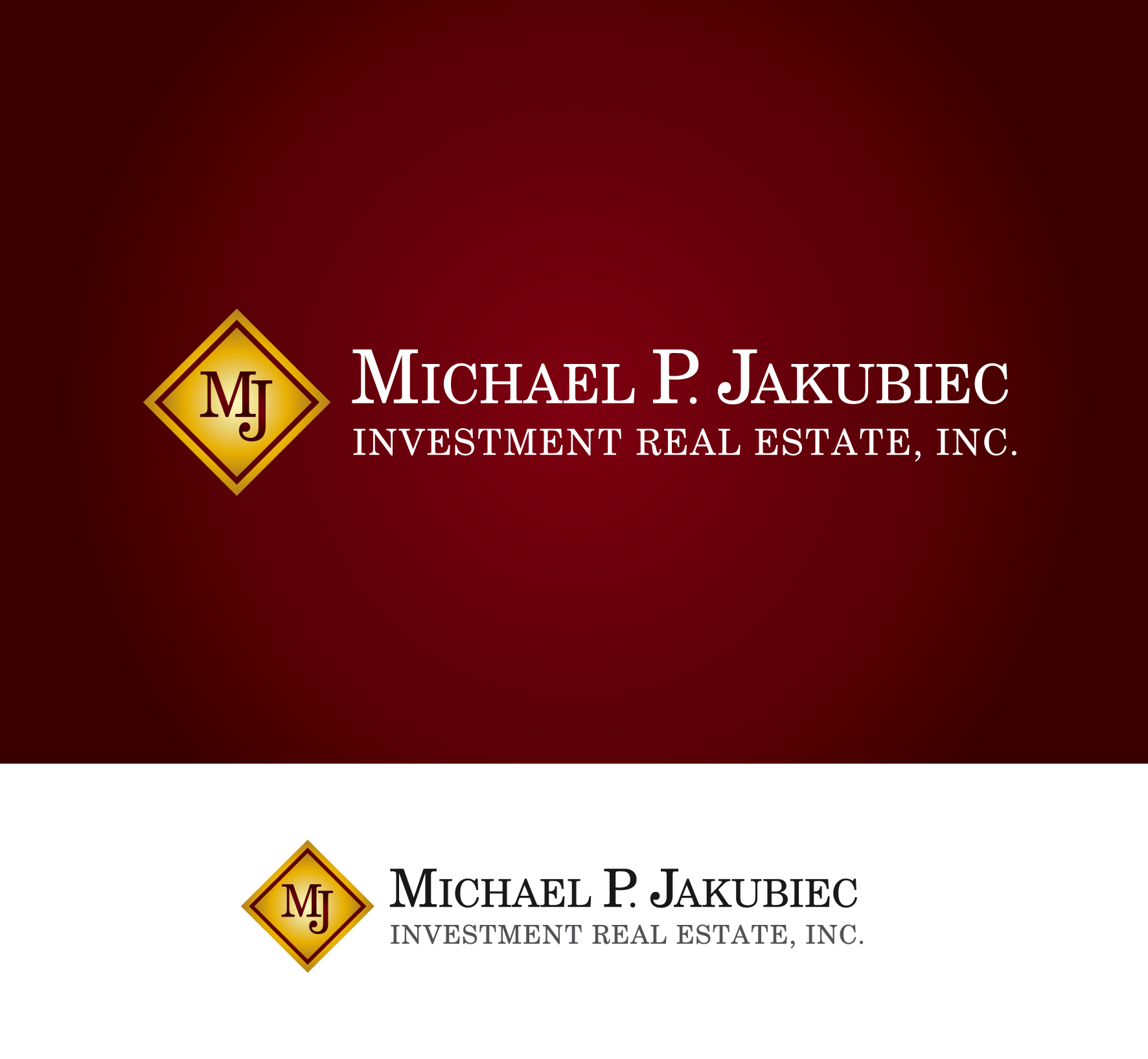 Logo Design by luna - Entry No. 42 in the Logo Design Contest New Logo Design for Michael P. Jakubiec Investment Real Estate, Inc..