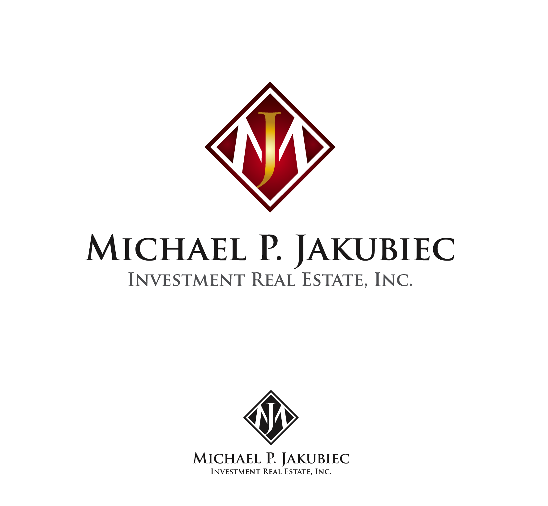 Logo Design by luna - Entry No. 43 in the Logo Design Contest New Logo Design for Michael P. Jakubiec Investment Real Estate, Inc..