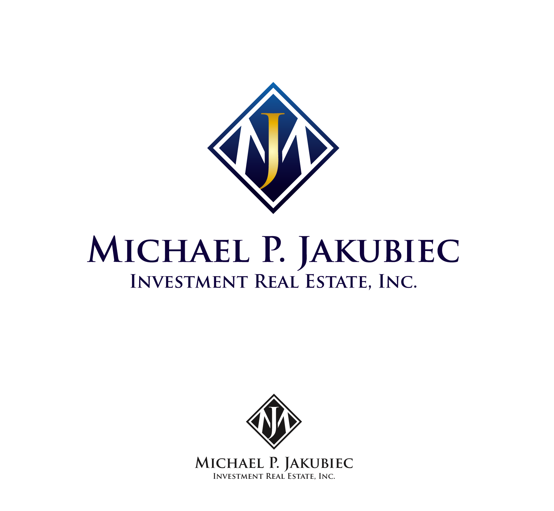Logo Design by luna - Entry No. 44 in the Logo Design Contest New Logo Design for Michael P. Jakubiec Investment Real Estate, Inc..