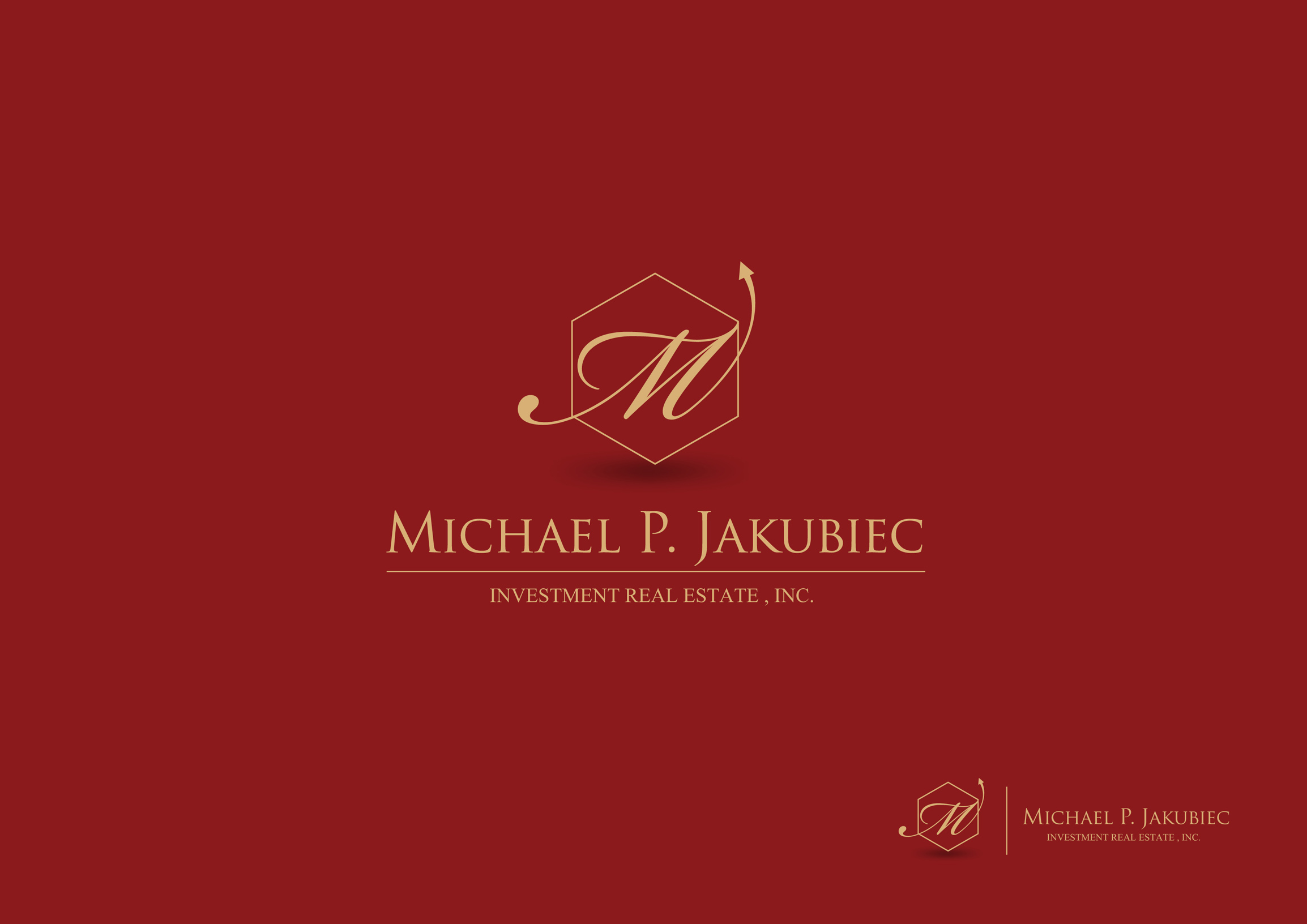 Logo Design by Mark Anthony Moreto Jordan - Entry No. 45 in the Logo Design Contest New Logo Design for Michael P. Jakubiec Investment Real Estate, Inc..