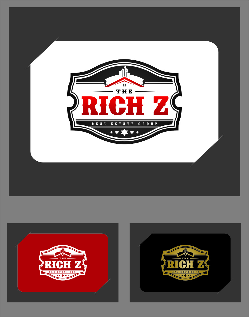 Logo Design by Ngepet_art - Entry No. 263 in the Logo Design Contest The Rich Z. Real Estate Group Logo Design.