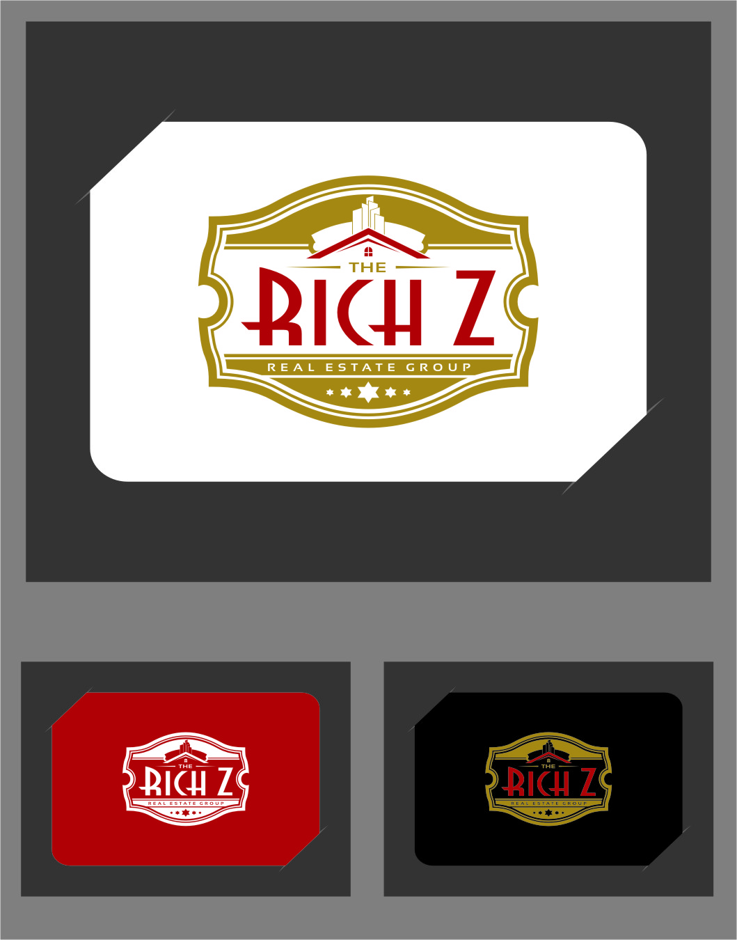 Logo Design by RasYa Muhammad Athaya - Entry No. 265 in the Logo Design Contest The Rich Z. Real Estate Group Logo Design.