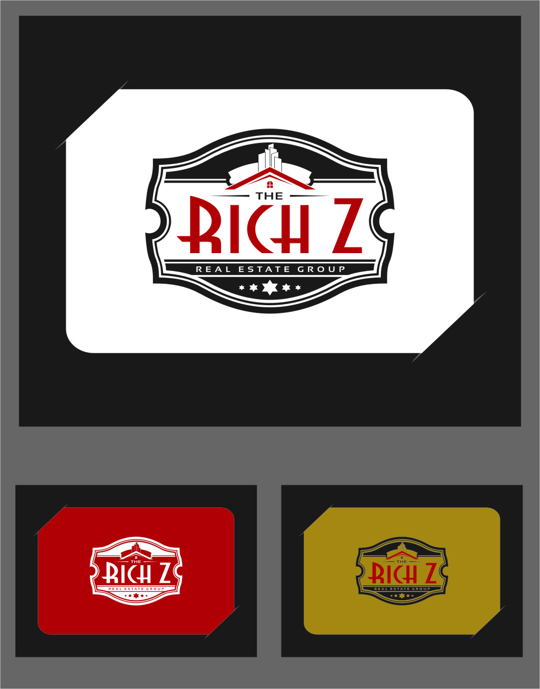 Logo Design by Ngepet_art - Entry No. 267 in the Logo Design Contest The Rich Z. Real Estate Group Logo Design.