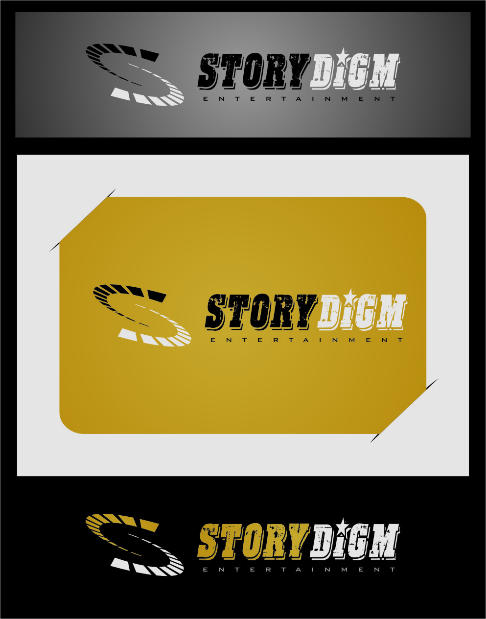Logo Design by RasYa Muhammad Athaya - Entry No. 62 in the Logo Design Contest Inspiring Logo Design for Storydigm Entertainment.