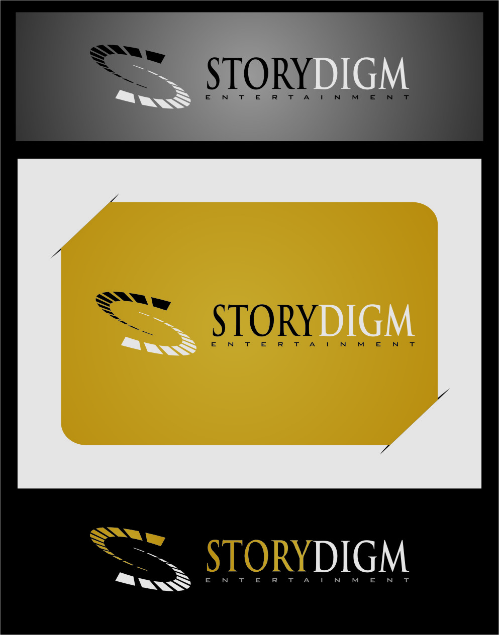 Logo Design by RoSyid Rono-Rene On Java - Entry No. 63 in the Logo Design Contest Inspiring Logo Design for Storydigm Entertainment.