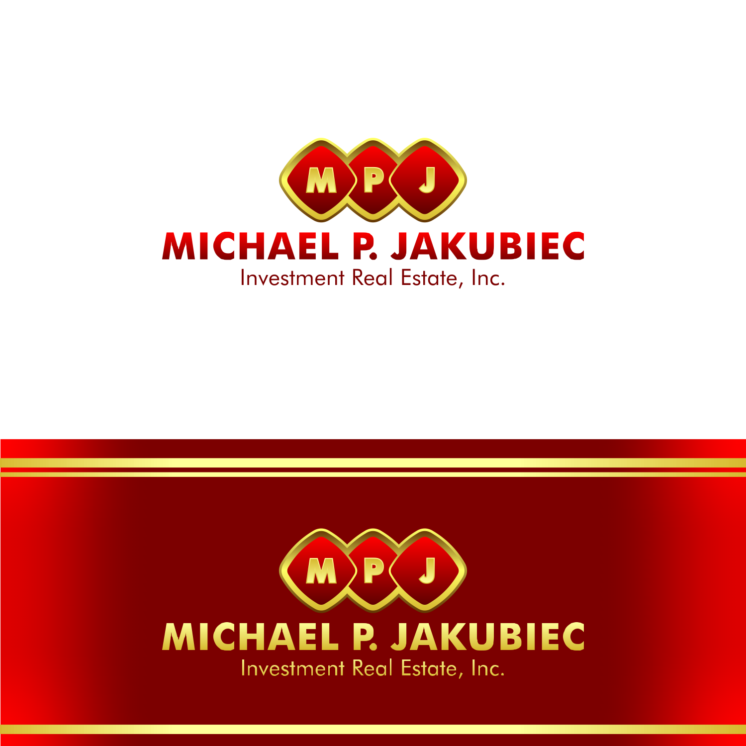 Logo Design by martinz - Entry No. 53 in the Logo Design Contest New Logo Design for Michael P. Jakubiec Investment Real Estate, Inc..