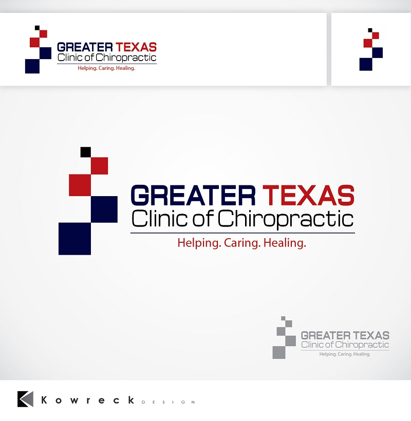 Logo Design by kowreck - Entry No. 8 in the Logo Design Contest New Logo Design for Greater Texas Clinic of Chiropractic.