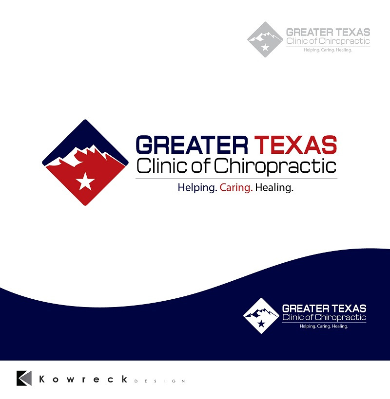 Logo Design by kowreck - Entry No. 9 in the Logo Design Contest New Logo Design for Greater Texas Clinic of Chiropractic.