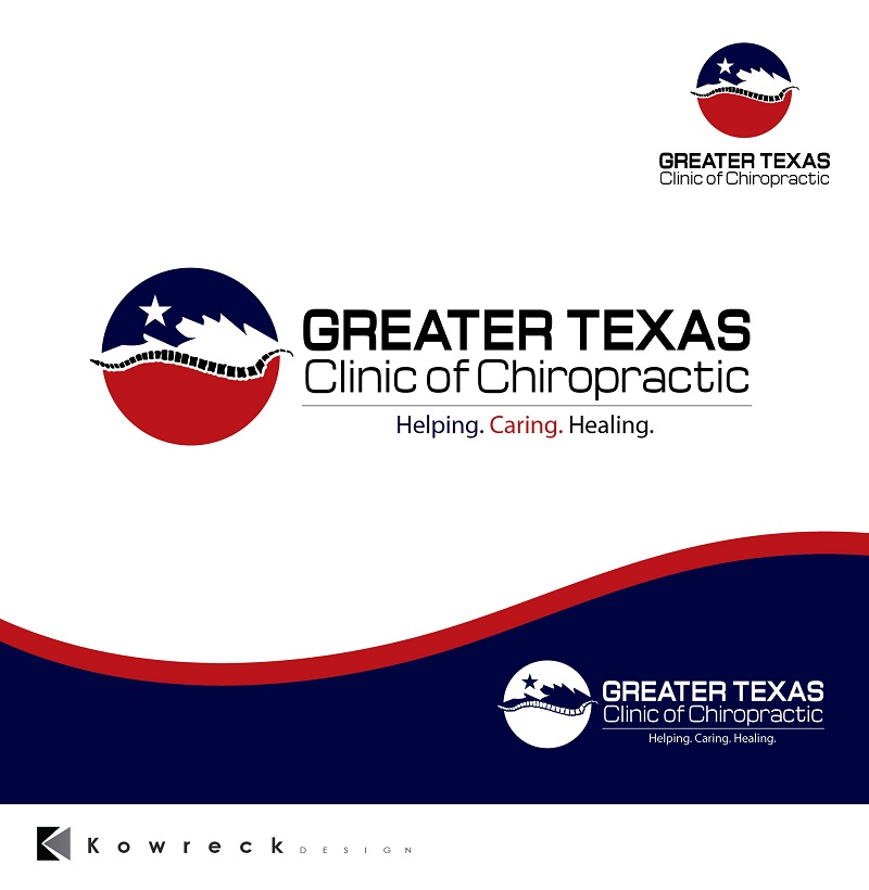 Logo Design by kowreck - Entry No. 11 in the Logo Design Contest New Logo Design for Greater Texas Clinic of Chiropractic.
