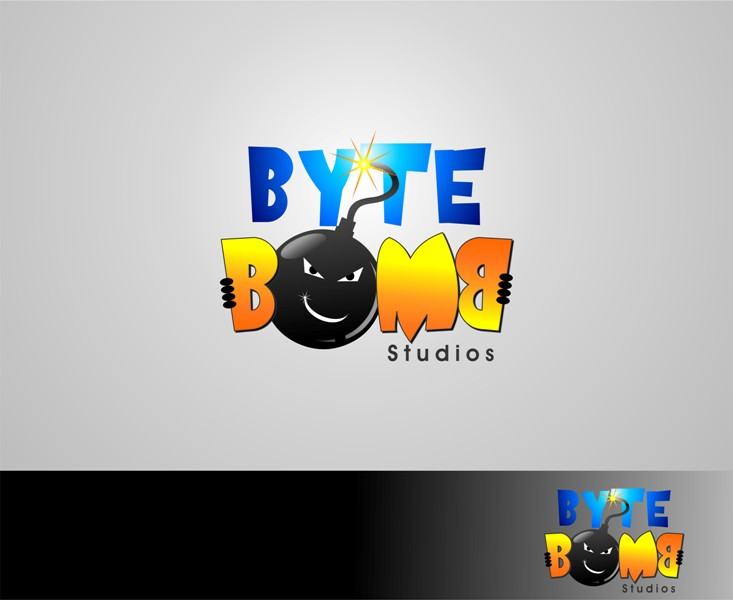 Logo Design by Mhon_Rose - Entry No. 27 in the Logo Design Contest Captivating Logo Design for ByteBomb Studios.