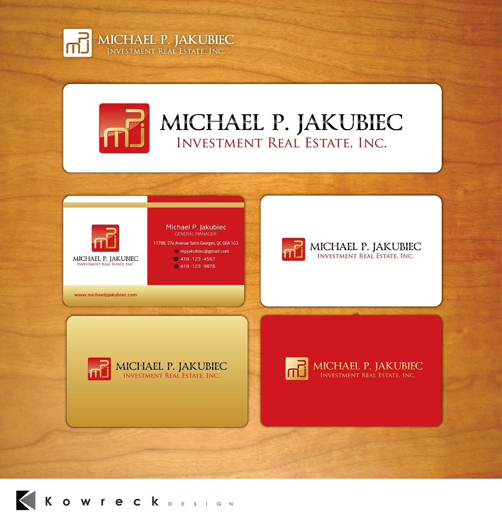 Logo Design by kowreck - Entry No. 58 in the Logo Design Contest New Logo Design for Michael P. Jakubiec Investment Real Estate, Inc..