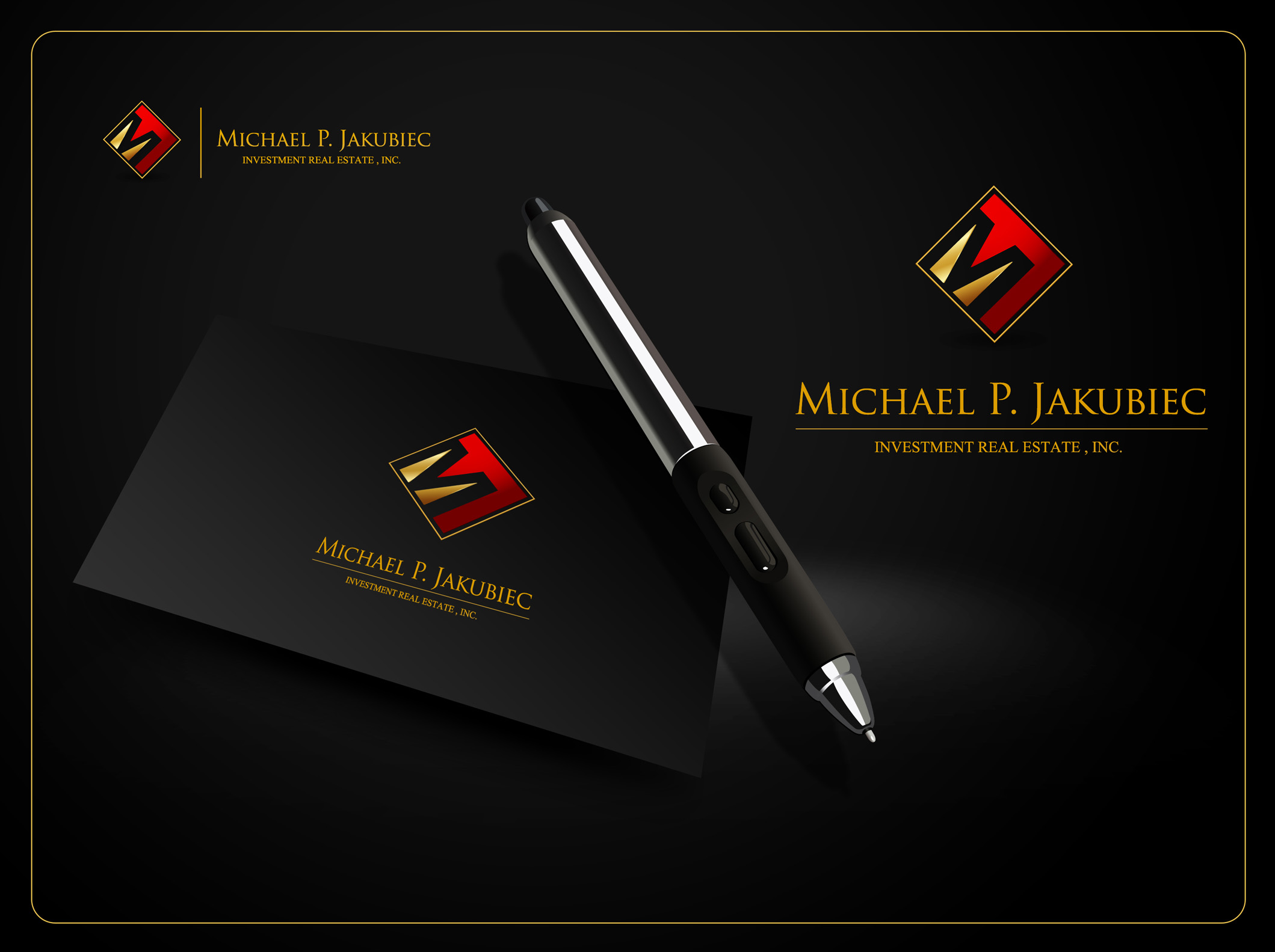 Logo Design by Mark Anthony Moreto Jordan - Entry No. 70 in the Logo Design Contest New Logo Design for Michael P. Jakubiec Investment Real Estate, Inc..