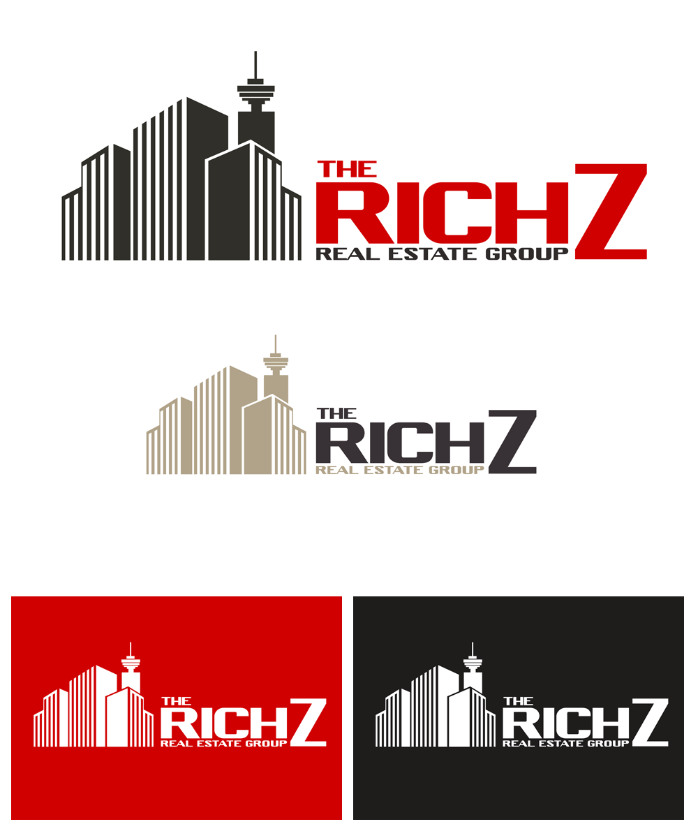 Logo Design by Private User - Entry No. 271 in the Logo Design Contest The Rich Z. Real Estate Group Logo Design.