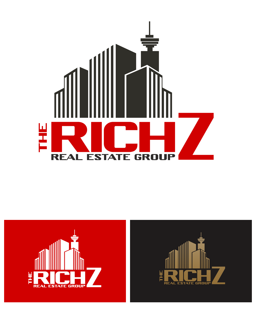 Logo Design by Private User - Entry No. 274 in the Logo Design Contest The Rich Z. Real Estate Group Logo Design.