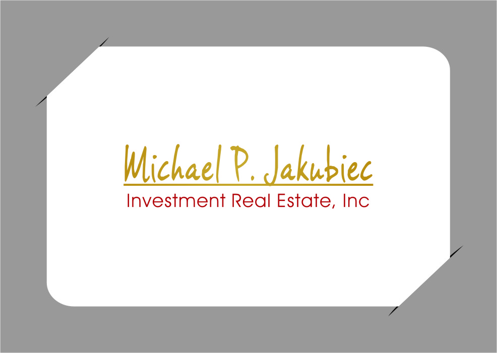 Logo Design by Ngepet_art - Entry No. 98 in the Logo Design Contest New Logo Design for Michael P. Jakubiec Investment Real Estate, Inc..