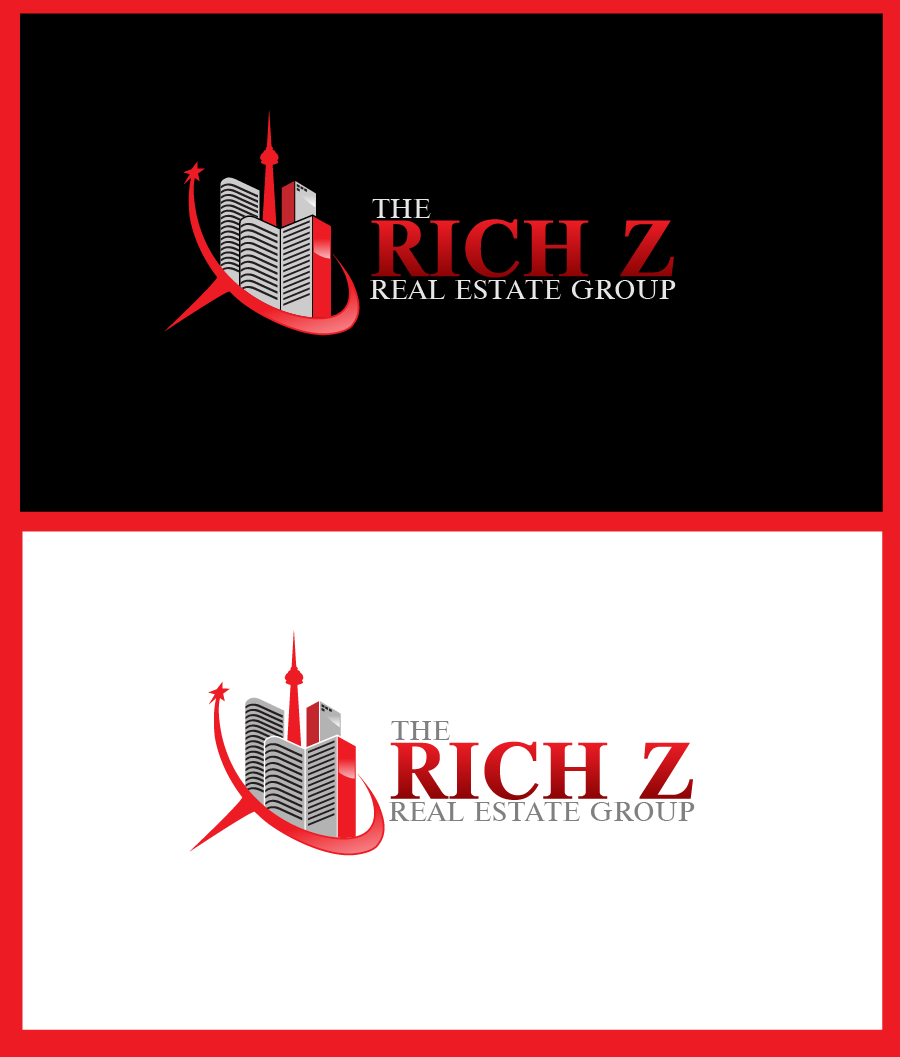 Logo Design by Private User - Entry No. 277 in the Logo Design Contest The Rich Z. Real Estate Group Logo Design.