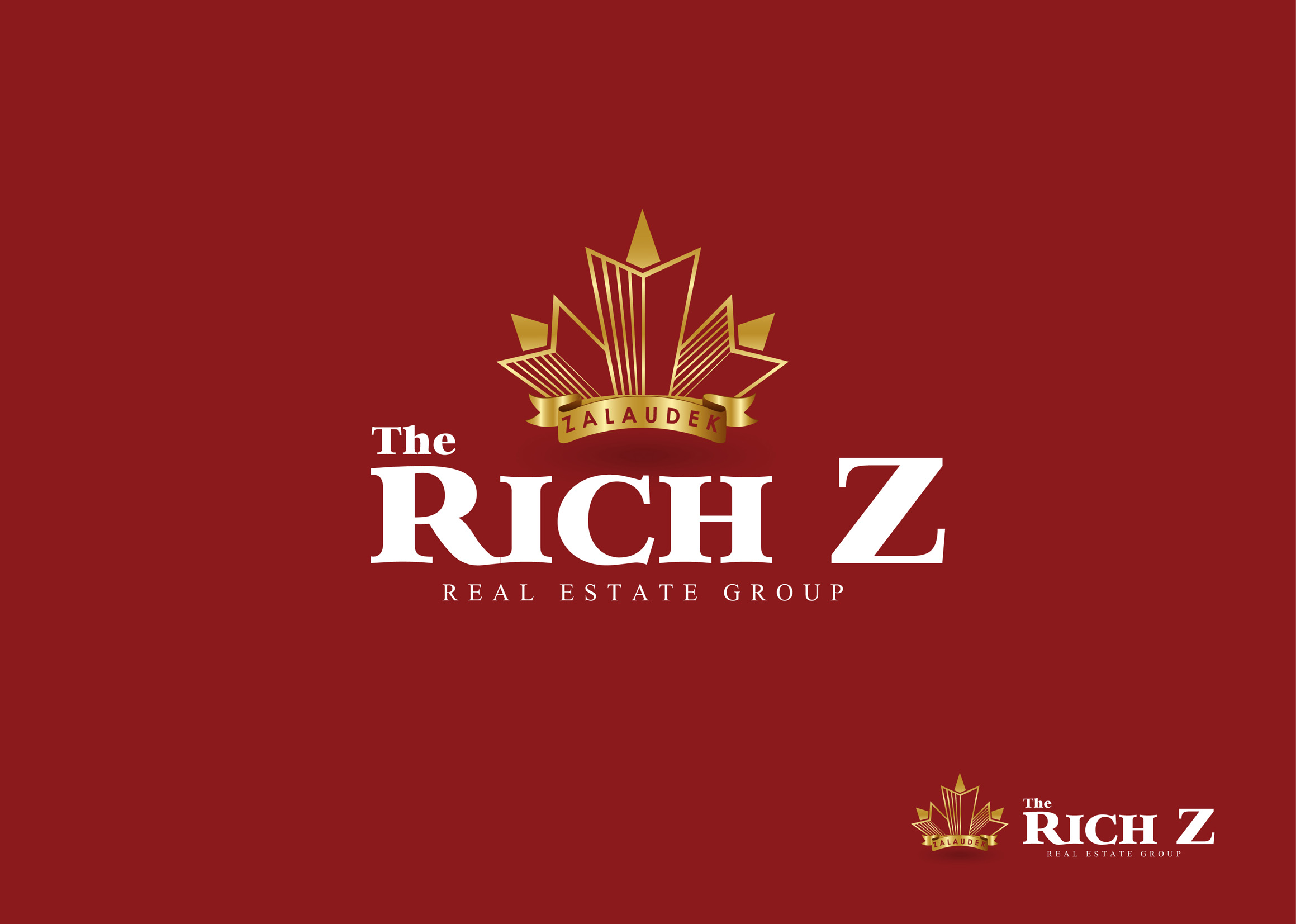 Logo Design by Mark Anthony Moreto Jordan - Entry No. 280 in the Logo Design Contest The Rich Z. Real Estate Group Logo Design.