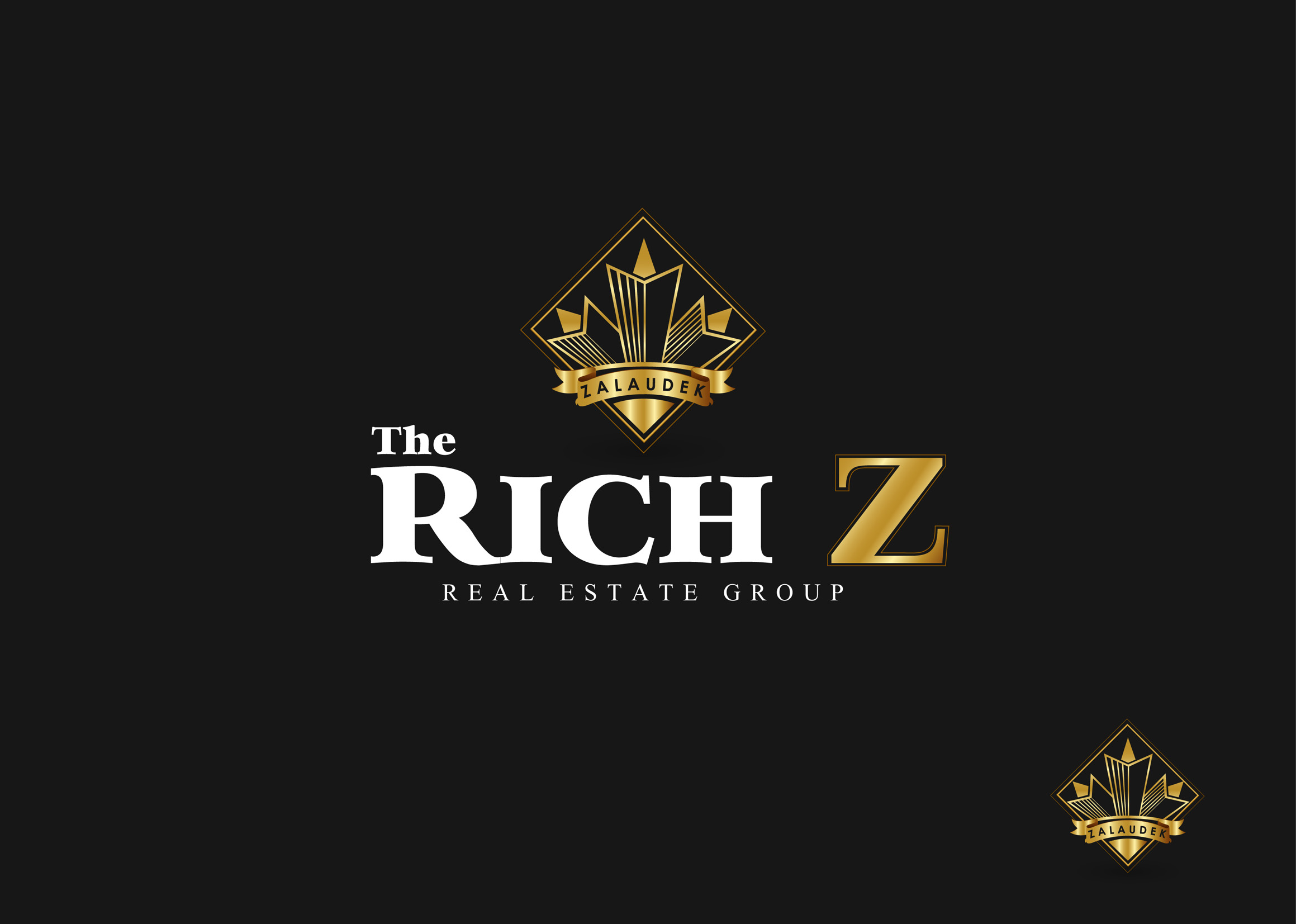 Logo Design by Mark Anthony Moreto Jordan - Entry No. 281 in the Logo Design Contest The Rich Z. Real Estate Group Logo Design.