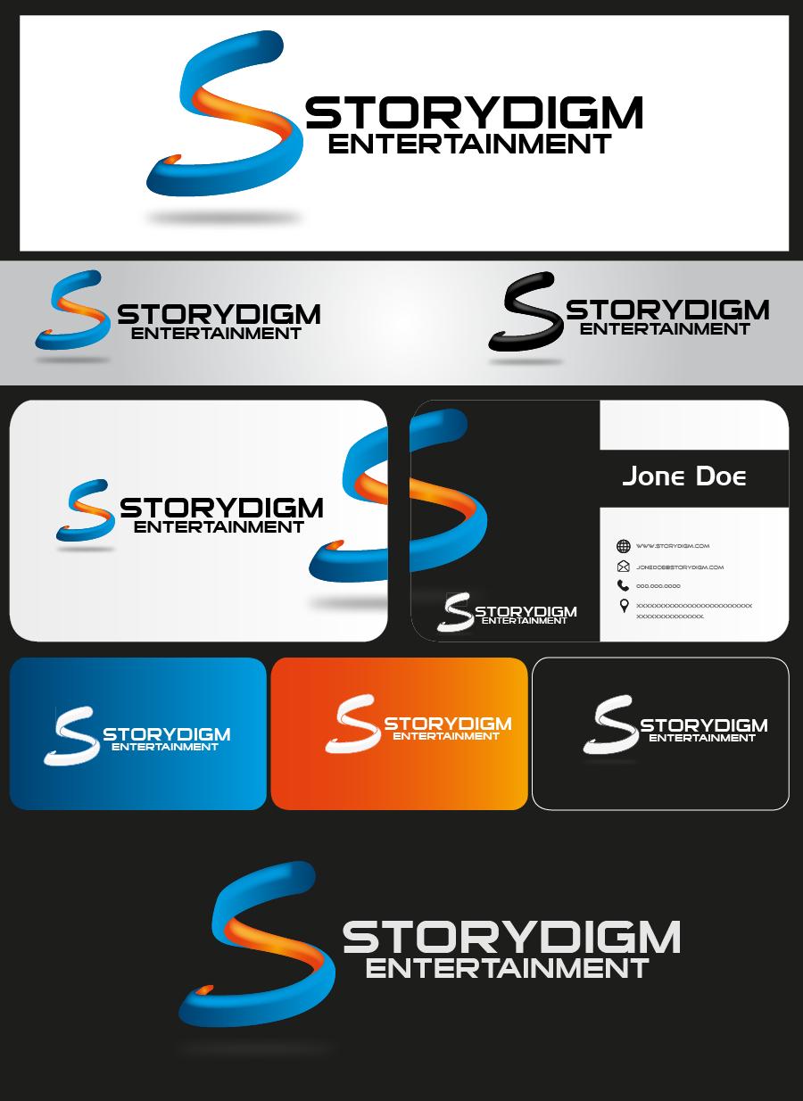 Logo Design by Private User - Entry No. 73 in the Logo Design Contest Inspiring Logo Design for Storydigm Entertainment.