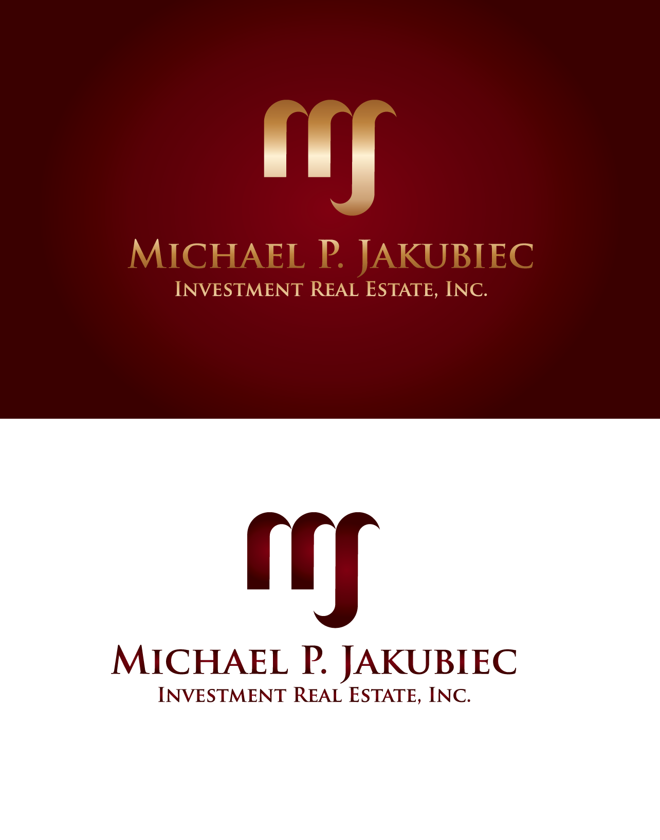 Logo Design by luna - Entry No. 105 in the Logo Design Contest New Logo Design for Michael P. Jakubiec Investment Real Estate, Inc..
