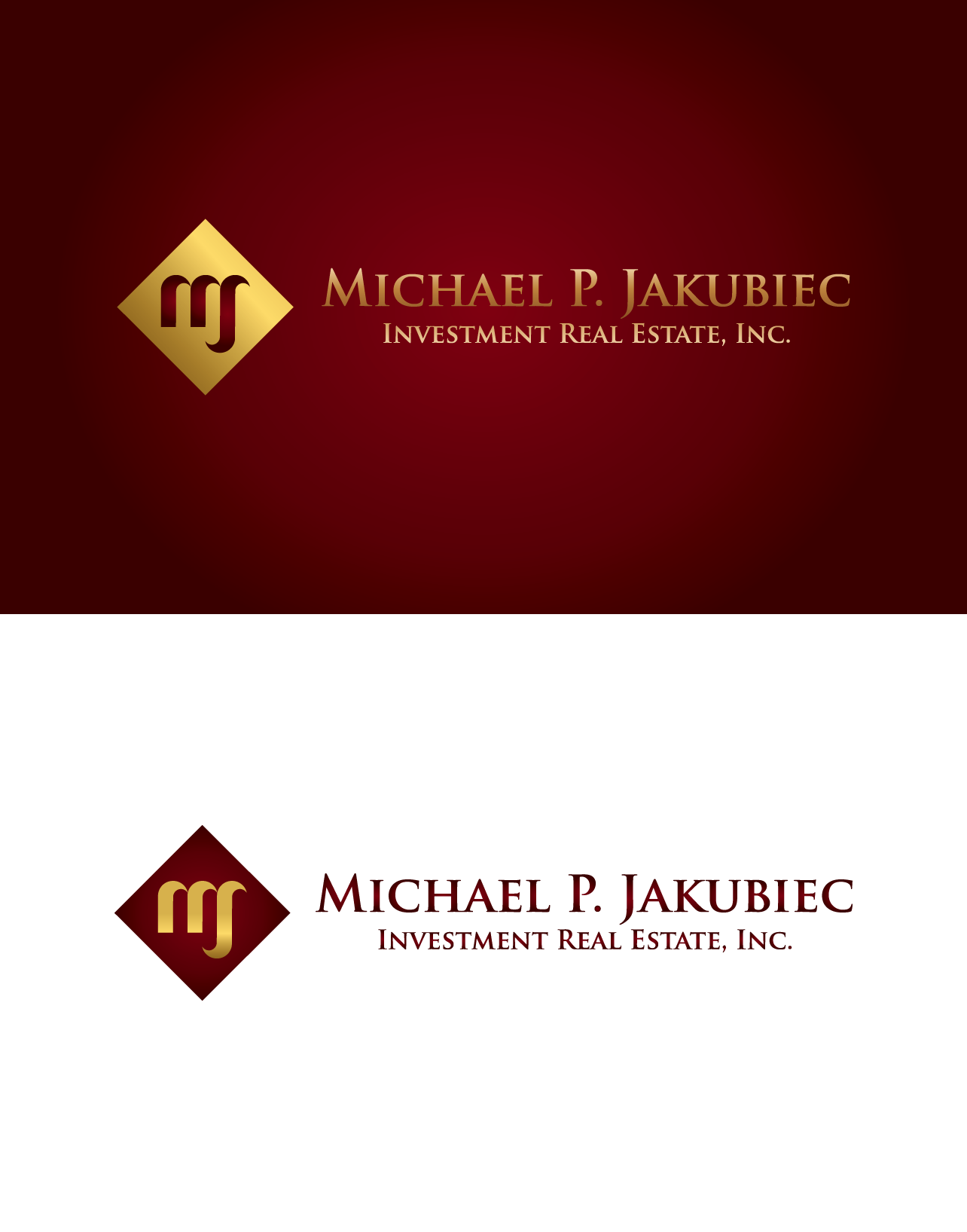 Logo Design by luna - Entry No. 108 in the Logo Design Contest New Logo Design for Michael P. Jakubiec Investment Real Estate, Inc..