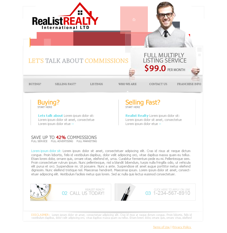 Web Page Design by garygeorgec - Entry No. 127 in the Web Page Design Contest Realist Realty International Ltd..