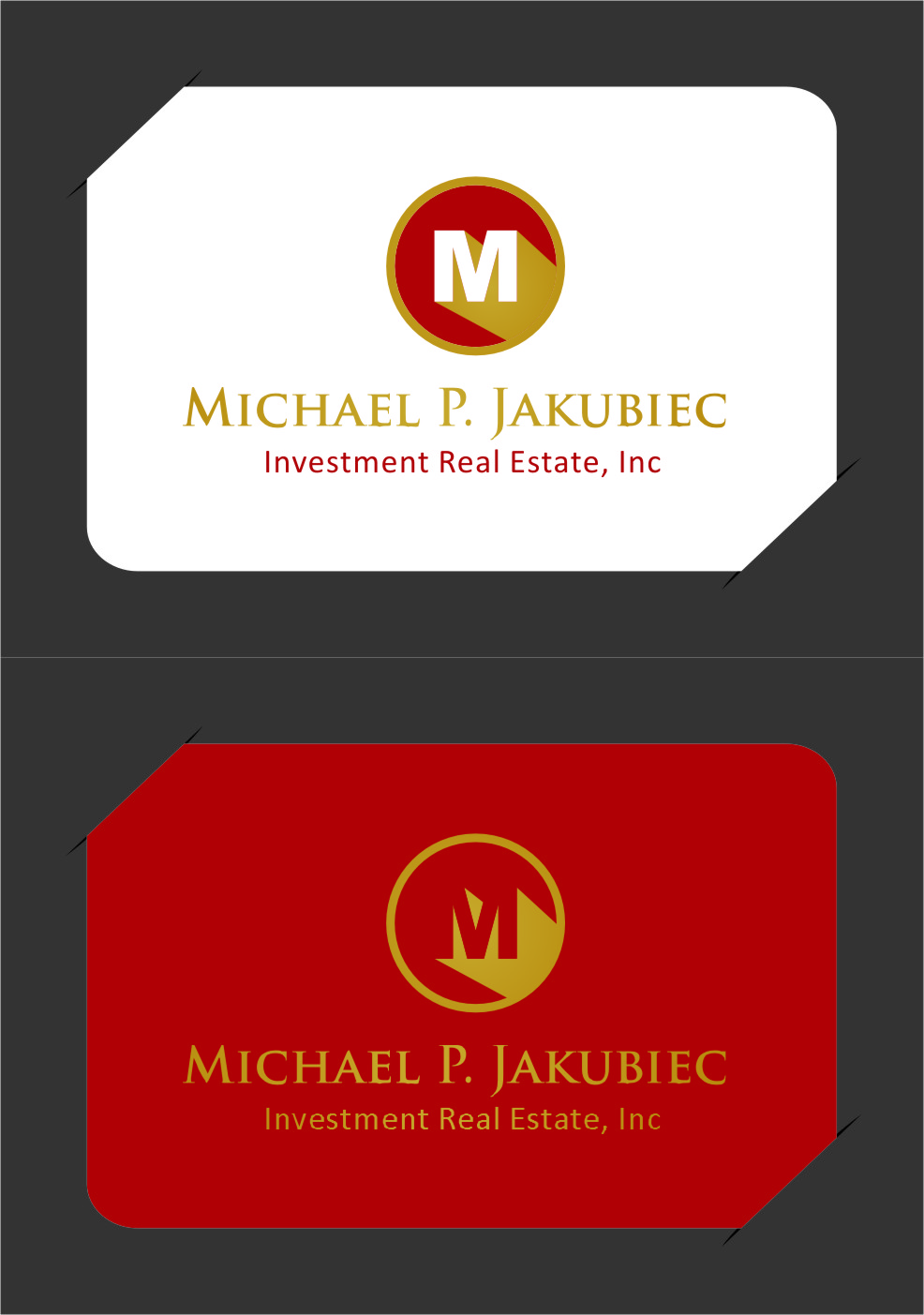 Logo Design by Ngepet_art - Entry No. 114 in the Logo Design Contest New Logo Design for Michael P. Jakubiec Investment Real Estate, Inc..