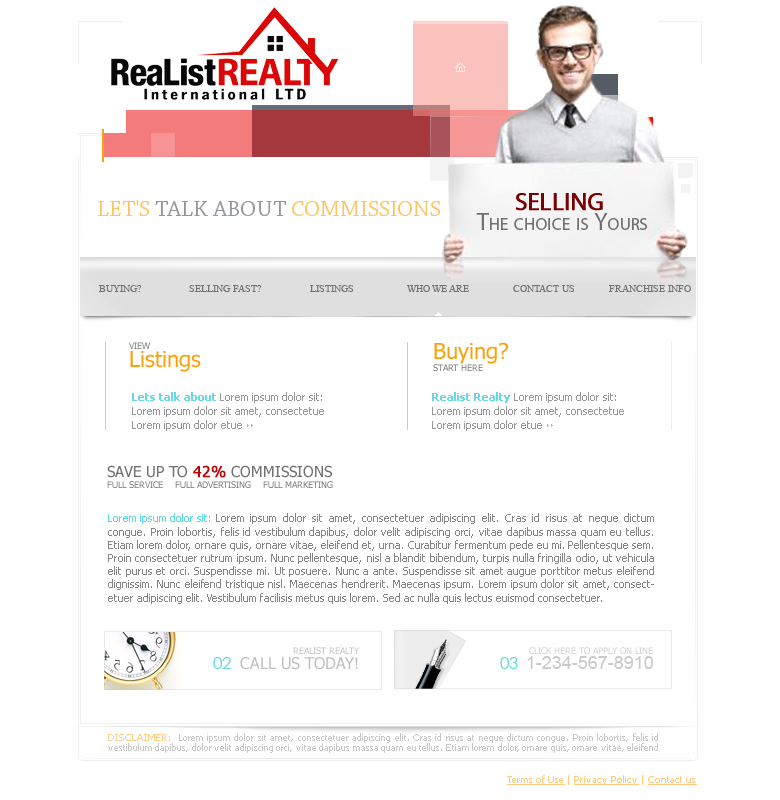 Web Page Design by garygeorgec - Entry No. 128 in the Web Page Design Contest Realist Realty International Ltd..