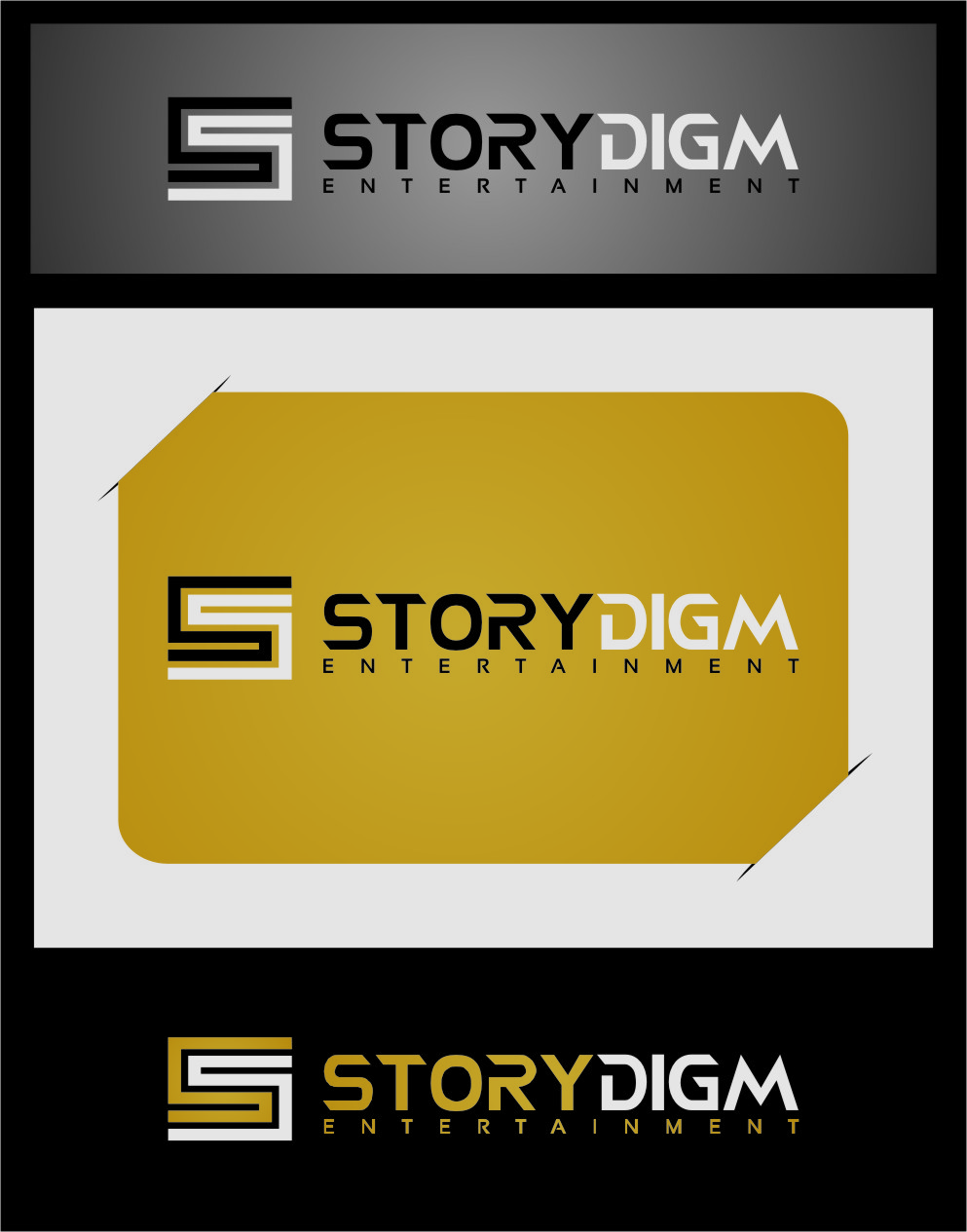 Logo Design by RasYa Muhammad Athaya - Entry No. 75 in the Logo Design Contest Inspiring Logo Design for Storydigm Entertainment.