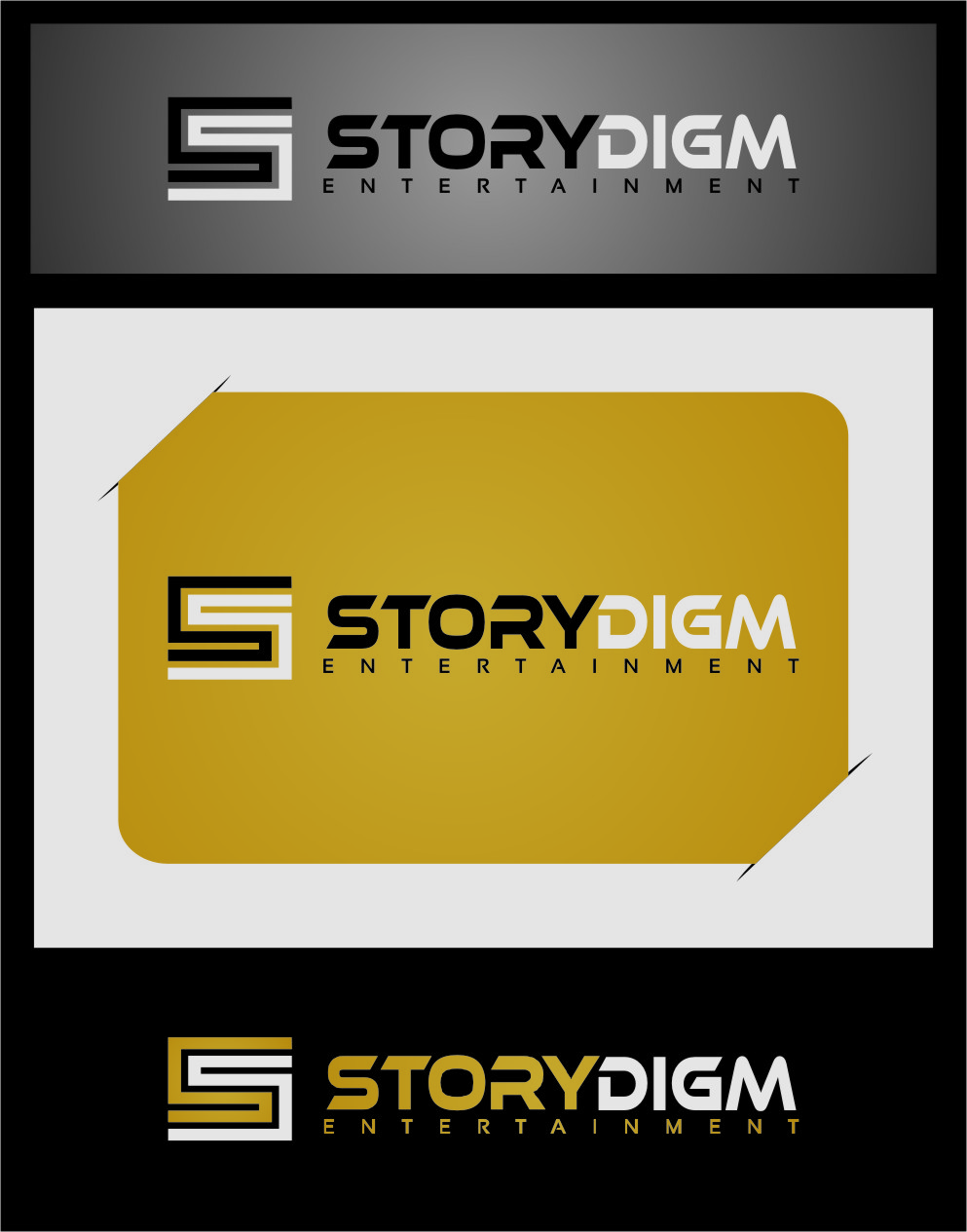 Logo Design by RasYa Muhammad Athaya - Entry No. 76 in the Logo Design Contest Inspiring Logo Design for Storydigm Entertainment.