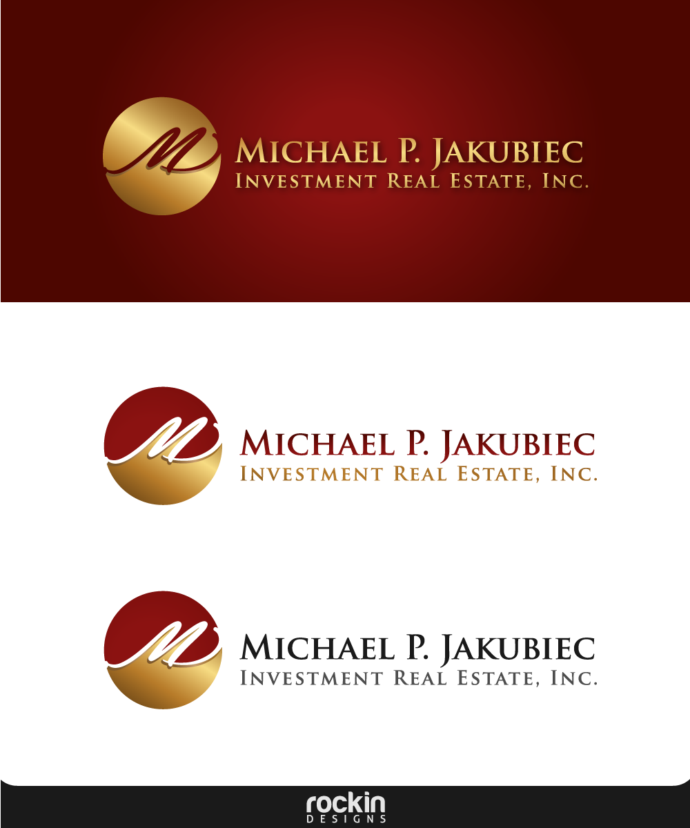 Logo Design by rockin - Entry No. 117 in the Logo Design Contest New Logo Design for Michael P. Jakubiec Investment Real Estate, Inc..