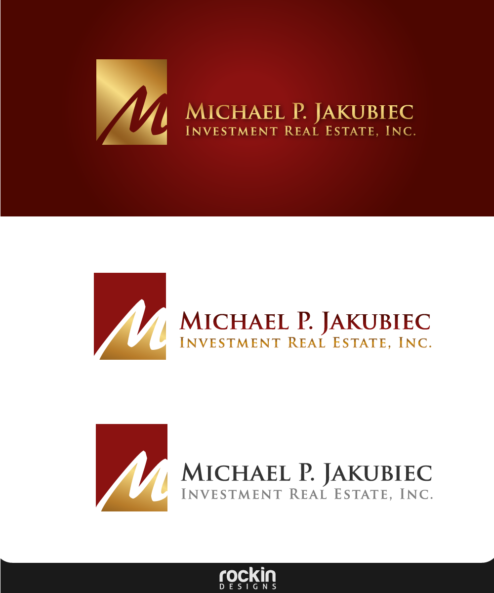 Logo Design by rockin - Entry No. 118 in the Logo Design Contest New Logo Design for Michael P. Jakubiec Investment Real Estate, Inc..