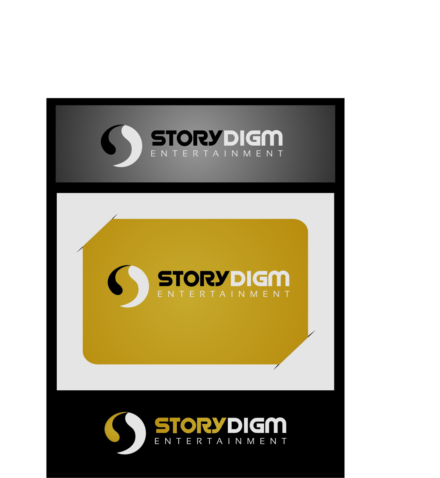 Logo Design by RasYa Muhammad Athaya - Entry No. 80 in the Logo Design Contest Inspiring Logo Design for Storydigm Entertainment.