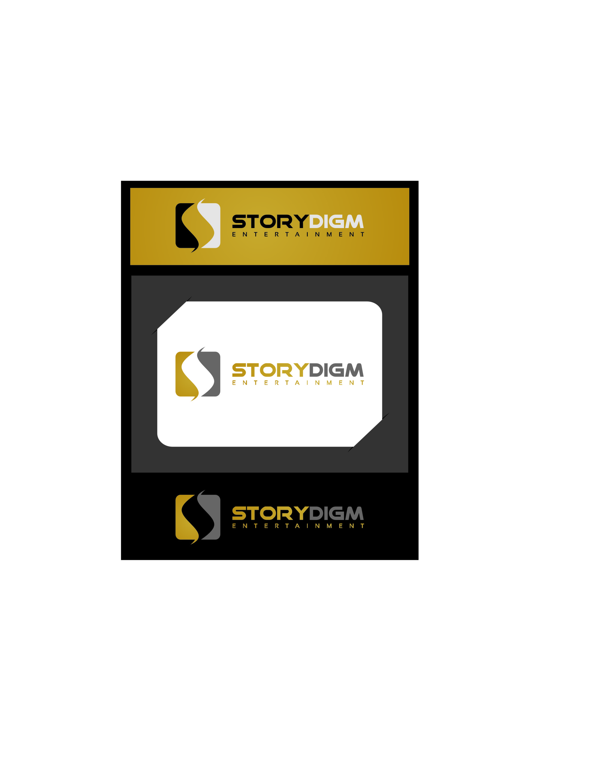 Logo Design by Ngepet_art - Entry No. 81 in the Logo Design Contest Inspiring Logo Design for Storydigm Entertainment.