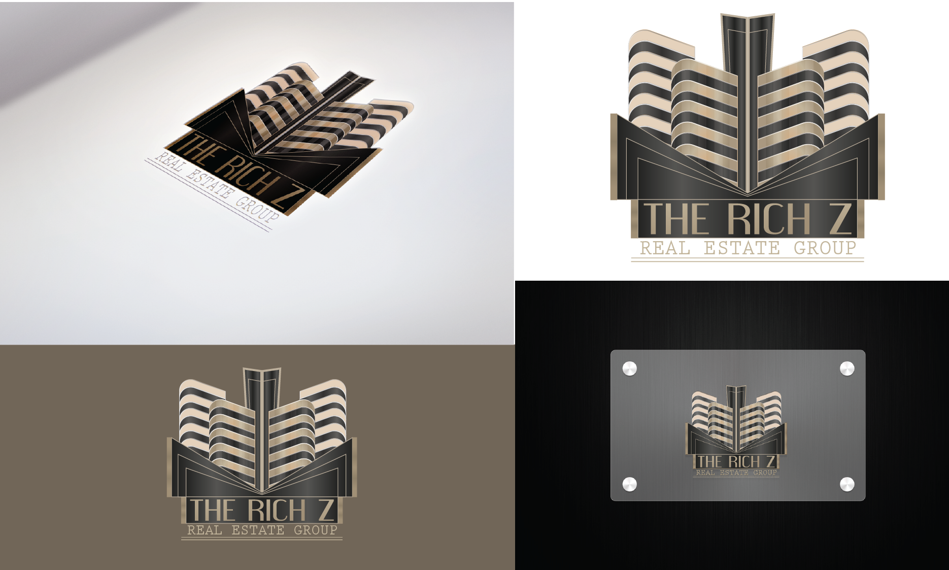 Logo Design by Private User - Entry No. 293 in the Logo Design Contest The Rich Z. Real Estate Group Logo Design.