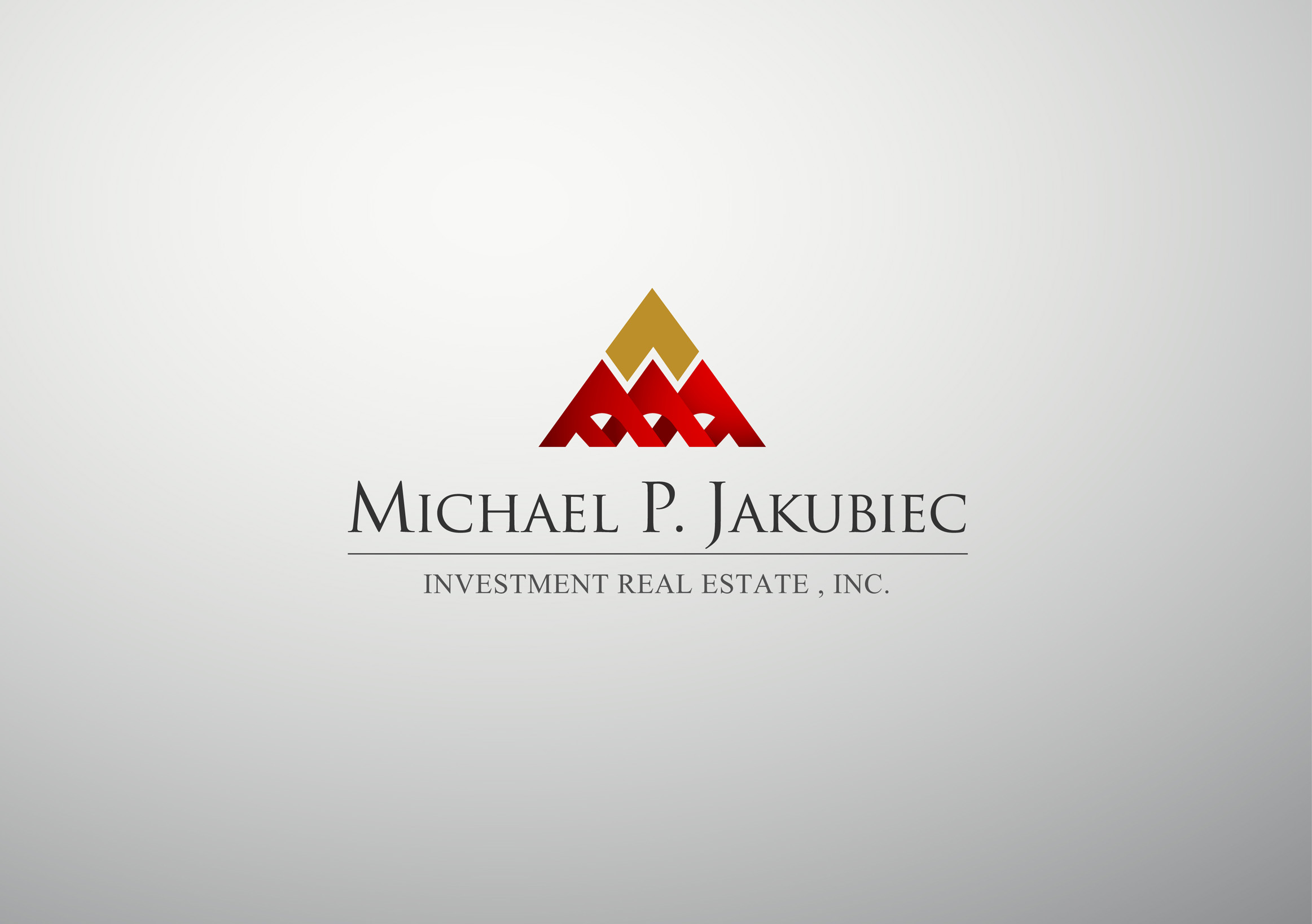 Logo Design by Mark Anthony Moreto Jordan - Entry No. 120 in the Logo Design Contest New Logo Design for Michael P. Jakubiec Investment Real Estate, Inc..