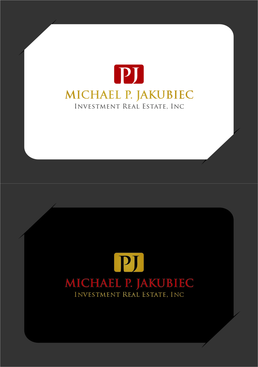Logo Design by RoSyid Rono-Rene On Java - Entry No. 122 in the Logo Design Contest New Logo Design for Michael P. Jakubiec Investment Real Estate, Inc..