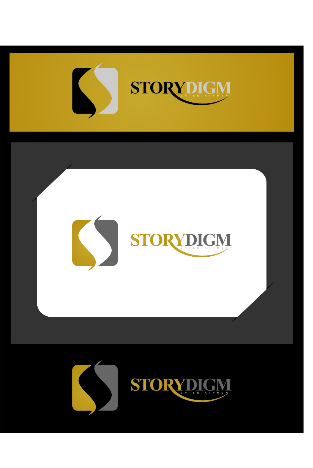Logo Design by RasYa Muhammad Athaya - Entry No. 83 in the Logo Design Contest Inspiring Logo Design for Storydigm Entertainment.
